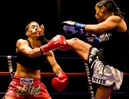 Gina Reyes Muay Thai fighter from SAn Diego California fights for IKF World Title with 3 days notice!