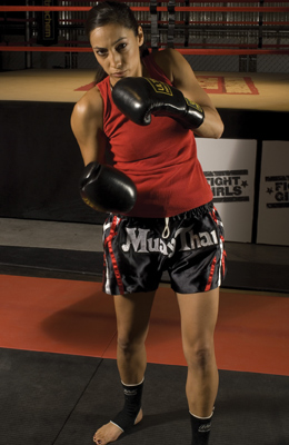 San Diego Muay Thai Kickboxer Gina Reyes from Fight Girls Reality Show.